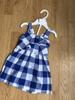 Girl DRESS with underwear blue and white squares 3 to 24 months