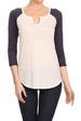 Midnight Lovers Women's Basic 3/4 Sleeves Raglan Jersey T-SHIRT