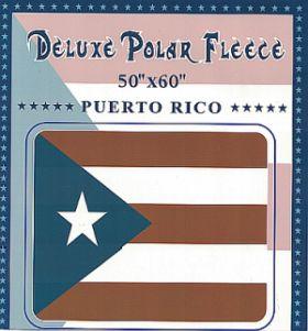 PUERTO RICO POLAR FLEECE BLANKET  (SIZE  50''x60'')