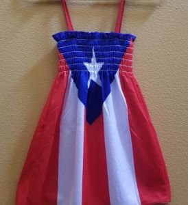 PUERTO RICO FLAG DRESS