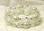 Stretchable BRACELET  in Pearl White