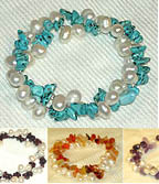 Freshwater Pearl Double Twisted Stretchable BRACELET - Stone