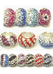 BIRTHSTONE Variation Color Crystal Beads with Silver Core