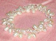Freshwater Pearl Double Twisted BRACELET w Beads