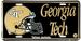 Georgia Tech Yellow JACKETs Embossed License Plate