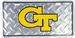 Georgia Tech Yellow JACKETs Diamond Embossed License Plate