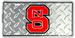 North Carolina State Wolfpack Diamond Embossed LICENSE PLATE