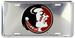 Florida State Seminoles Embossed Chrome LICENSE PLATE
