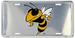 Georgia Tech Yellow JACKETs Embossed Chrome License Plate