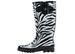 Ladies' Zebra Print Rubber RAIN BOOTS