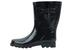 Ladies Mid-Calf Black Rubber Rain BOOTS