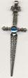 SWORD w/stone Necklace