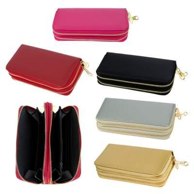 Wholesale Women's CLUTCH 2 Zipper Wallets