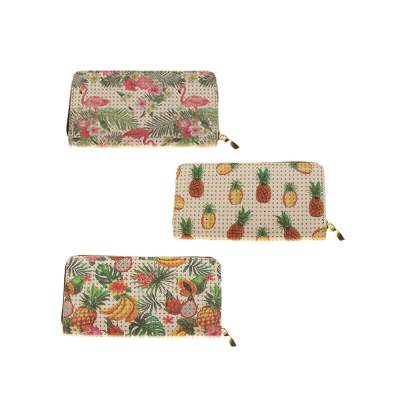 Wholesale Women's CLUTCH Purse in 3 Assorted Fruit Prints