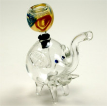Clear Elephant WATER PIPE With Glass Bowl