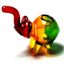 Rasta Glass Elephant Pipe