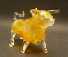 Glass bull pipe