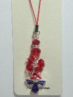 CellPhone Charm-RED HAT Purple Stone Angel-**SALE**#RJW-342(1-408