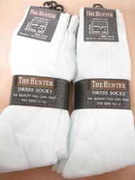 Men's DRESS Socks White(Hunter) 10-13 #S100/WHT