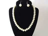 PEARL Necklace and Earring - Cream - PNE-001C