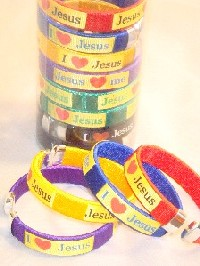 Open BANGLE in Canister-''I Love Jesus''-#YG-1202#29019 #RJW-136JE