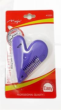 Hair Cutter RAZOR Comb-Heart Shape-Color Asst.-#12323