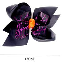 Duck Clip BOW-Halloween Design-Black/Orange-#MKC-2425