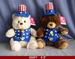 FOR 9''-12'' UNCLE SAM'S BEAR VEST AND HAT