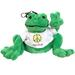 PEACE FROGS PLUSH GREEN FROG KEYCHAIN