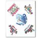 PEACE FROGS SURF ASSORTMENT TATTOOS
