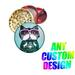 Designer's Titanium Grinder Cat with glass and ugly CHRISTMAS Swe