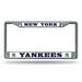 NEW YORK YANKEES CHROME LICENSE FRAME FROM RICO