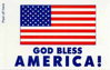 American Flag Bumper STICKERS (4''x6'')