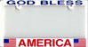 License Plate FRAME (''God Bless America'')