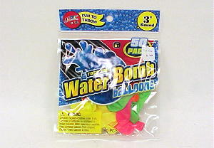 WATER BOMB BALLOONS 50 PACK