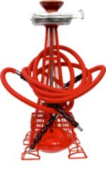 EIFEL TOWEL HOOKAH RED 20'' TALL