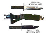 12'' COMBAT SURVIVAL KNIFE WITH  SHEATH