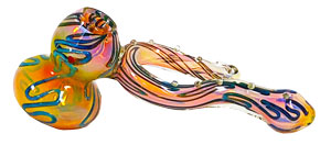 8'' Gold Fumed Uniquely designed HAMMER Bubbler