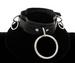LEATHER Ring Choker