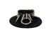 LEATHER O-Ring 2'' Spikes Choker