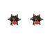 LEATHER Star 1/2'' Spike Red Heart Lock Key