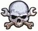 WRENCH SKULL PATCH