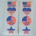 4 PIECE AMERICAN FLAG STICKERS