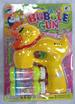 LIGHT UP DUCK  BUBBLE GUN WITH SOUND