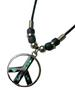 PAUA SHELL OPEN PEACE SIGN NECKLACE