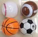 SPORTS BALL INFLATABLE 8 INCH BALLS
