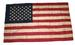 OLD VINTAGE LOOKING EMBROIDERIED AMERICAN 3 X 5 FLAG