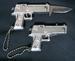 DELUXE 45 MAG PISTOL GUN KNIFE BALL CHAIN KEYCHAIN