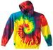 TRADITIONAL RAINBOW TIE DYED PULLOVER HOODIE SWEATSHIRT