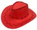 RED COLOR HEAVY LEATHER STYLE WESTERN COWBOY HAT